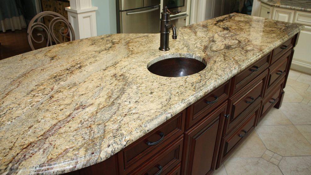 River Yellow Kitchen Prefab Granite Countertop Granite Countertops Kitchen Granite Countertops Prefab Granite