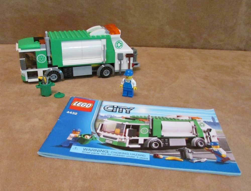 4432 Lego Garbage Truck Complete City Instructions Town Green