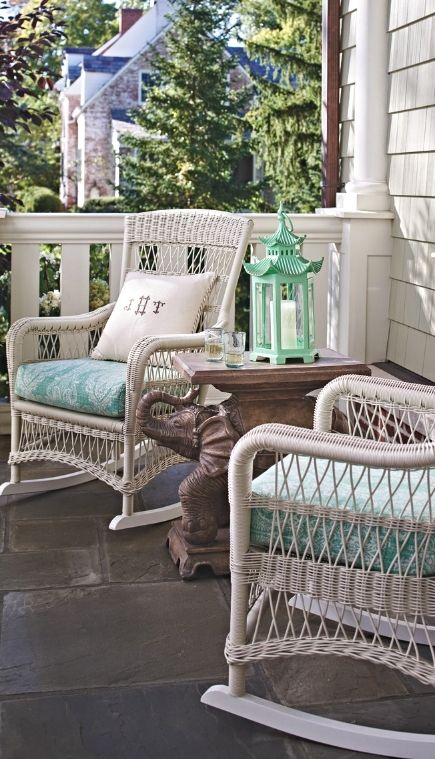 Providence Rocking Chair With Cushion Front Porch Sittin