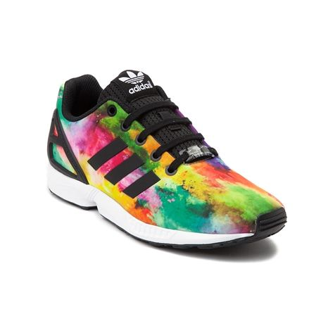 Color outside the lines with the new ZX Flux Athletic Shoe from adidas! A  modern