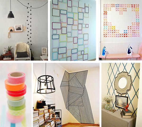 decorando la pared sin taladros ni pinturas