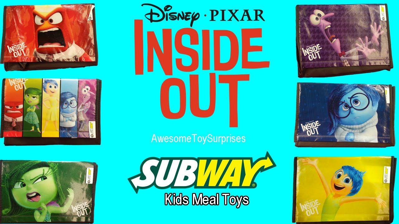Disney Pixar Inside Out 2015 Subway Kids Meal Bags Disney Pixar