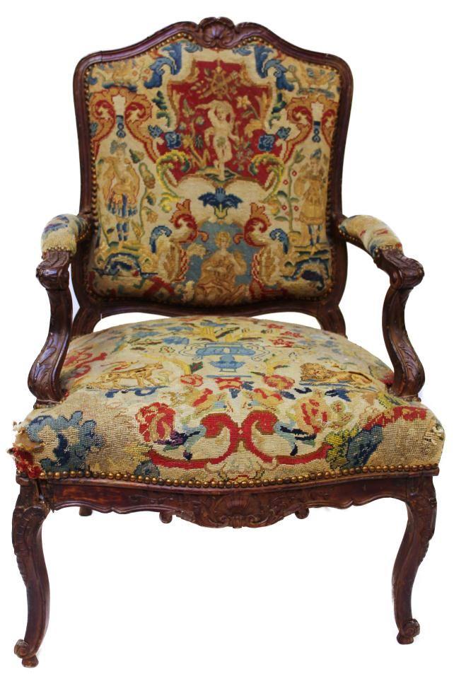 Needlepoint Chair Home Chair Hall Furniture Sofa Chair
