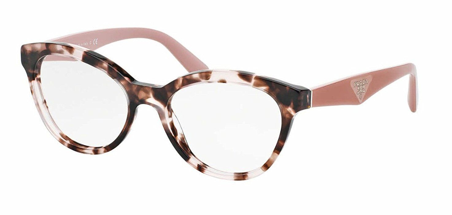 87c38f587efb Prada TRIANGLE PR11RV Eyeglass Frames ROJ1O1-50 - Pink Havana  PR11RV-ROJ1O1-50