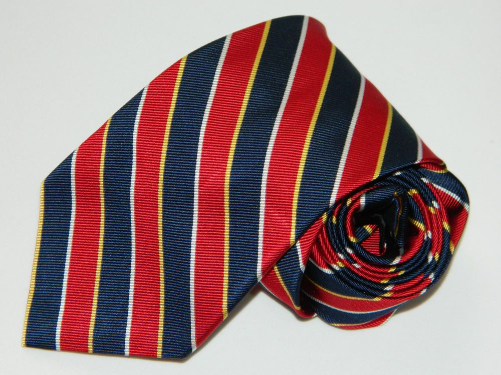 Men's Jos.A.Bank Blue 100 Silk Neck Tie made in China