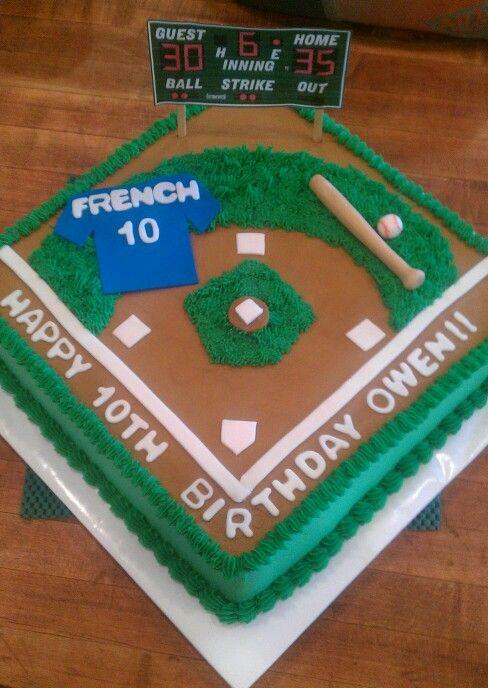 Excellent Baseball Themed Cake Baseball Birthday Cakes Baseball Theme Funny Birthday Cards Online Necthendildamsfinfo