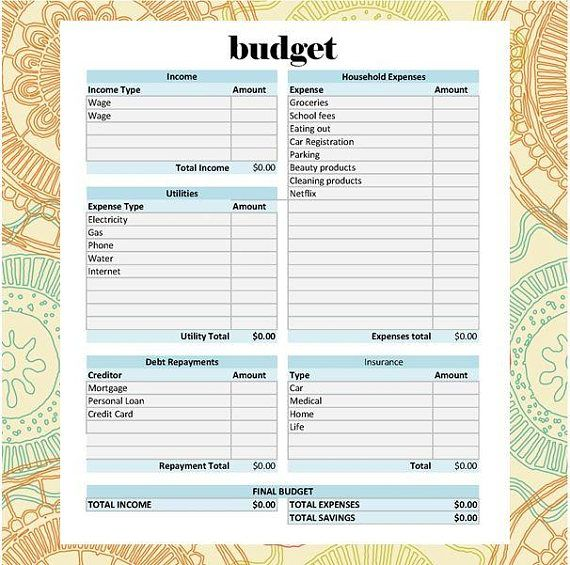 Welcome to the Ultimate Budget Spreadsheet! This is a fully