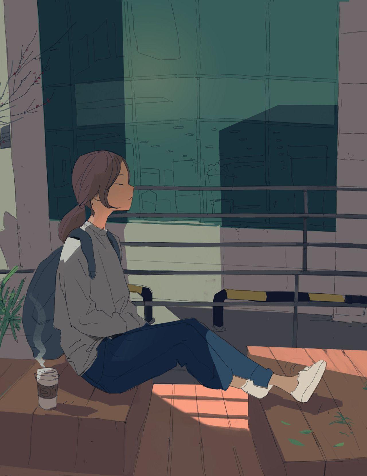 Resultado de imagen para chica sola nostalgica