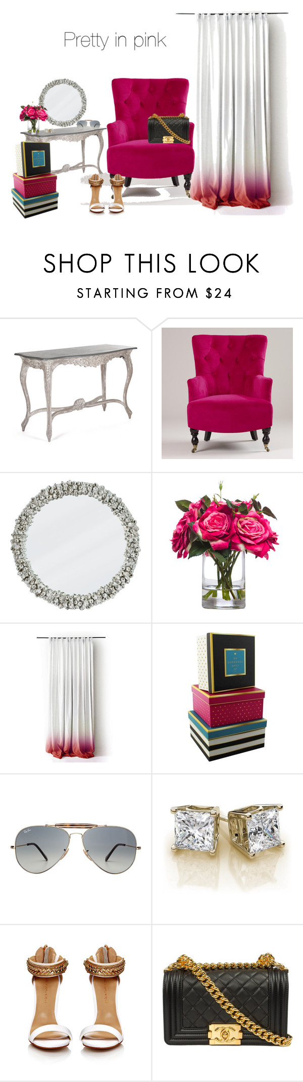 """""""Untitled #41"""" by ami-johnson-rodgers ❤ liked on Polyvore featuring Cost Plus World Market, Lux-Art Silks and Ray-Ban"""