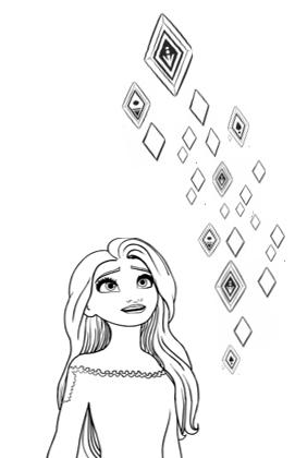 Frozen 2 Elsa In 2020 Frozen Tattoo Disney Drawings Disney Art
