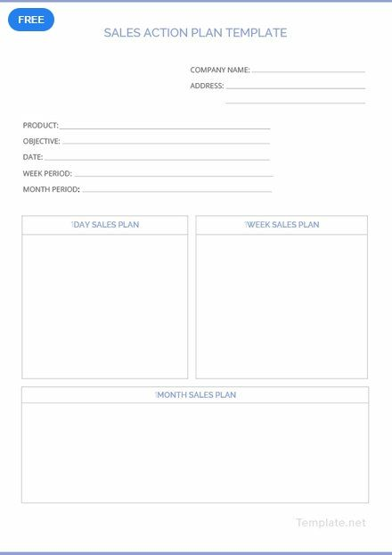 free sales action plan plan templates designs 2019 pinterest