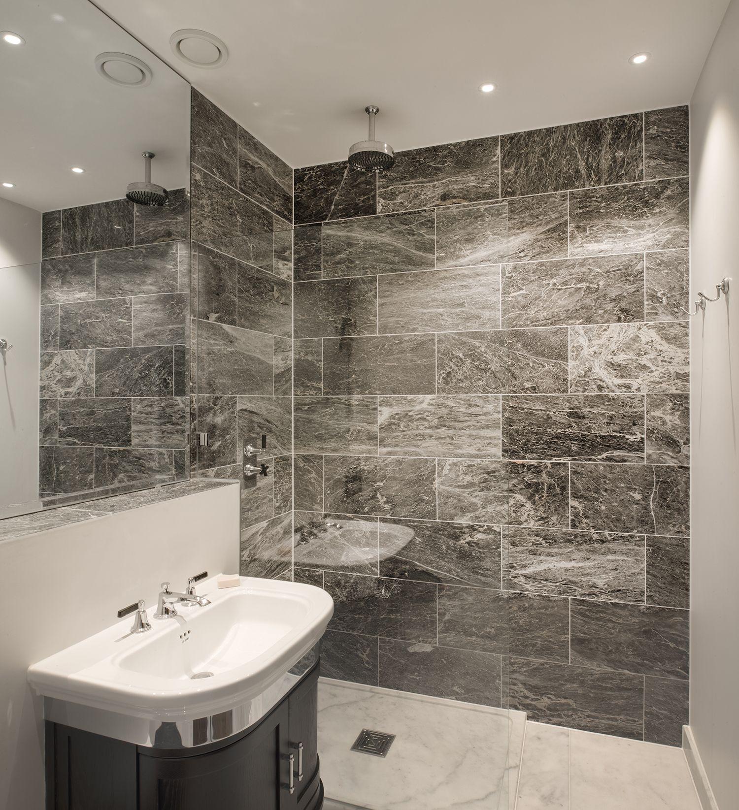 Basement shower room as part of this larger basement