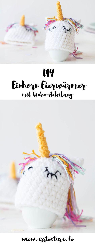 ➤ Anleitung: Einhorn Eierwärmer häkeln #knittingpatternstoys
