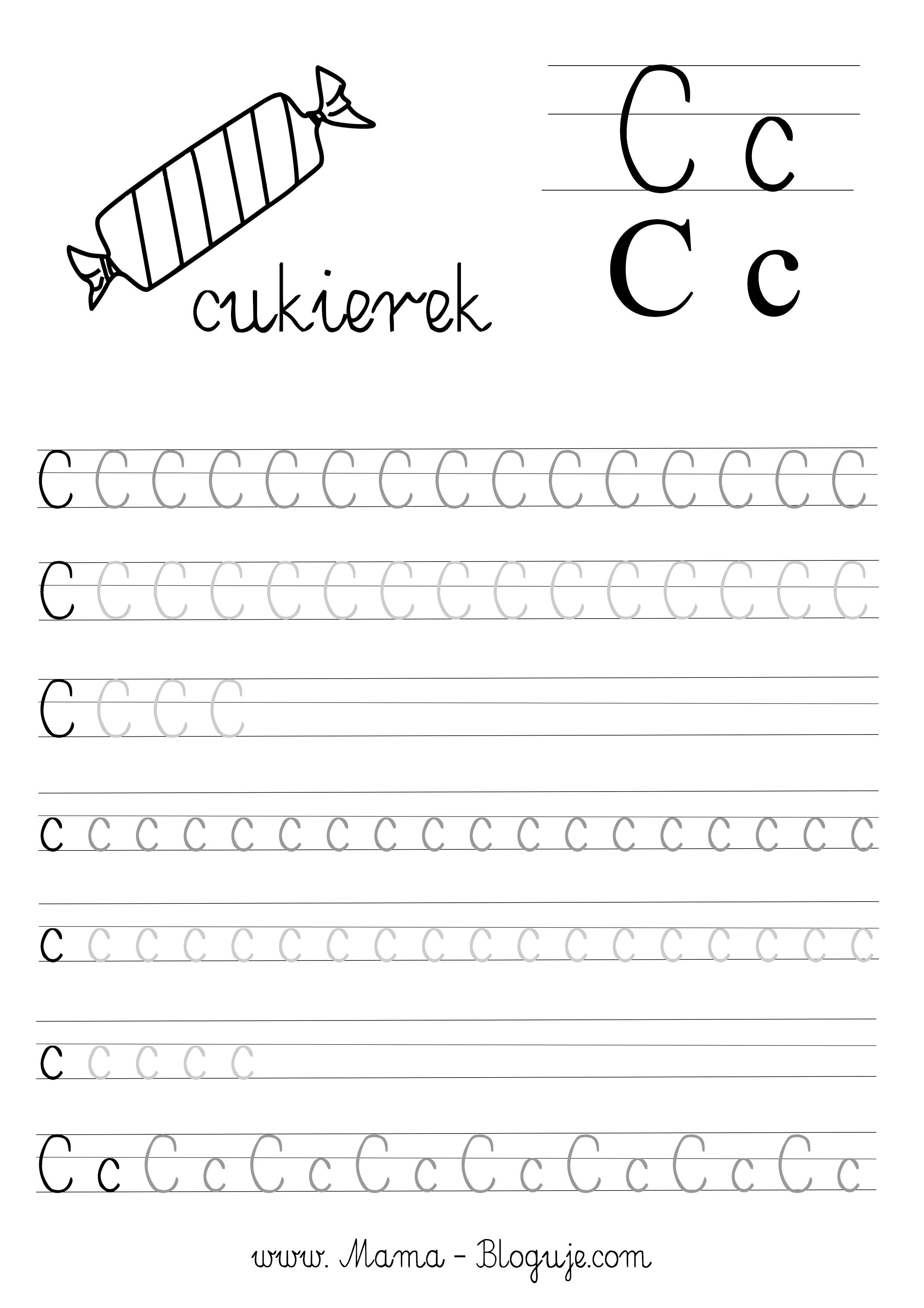 Nauka Pisania Literek Dla Dzieci Darmowe Szablony Do Druku Literki A F Kids Writing Tracing Worksheets Preschool Learning Letters