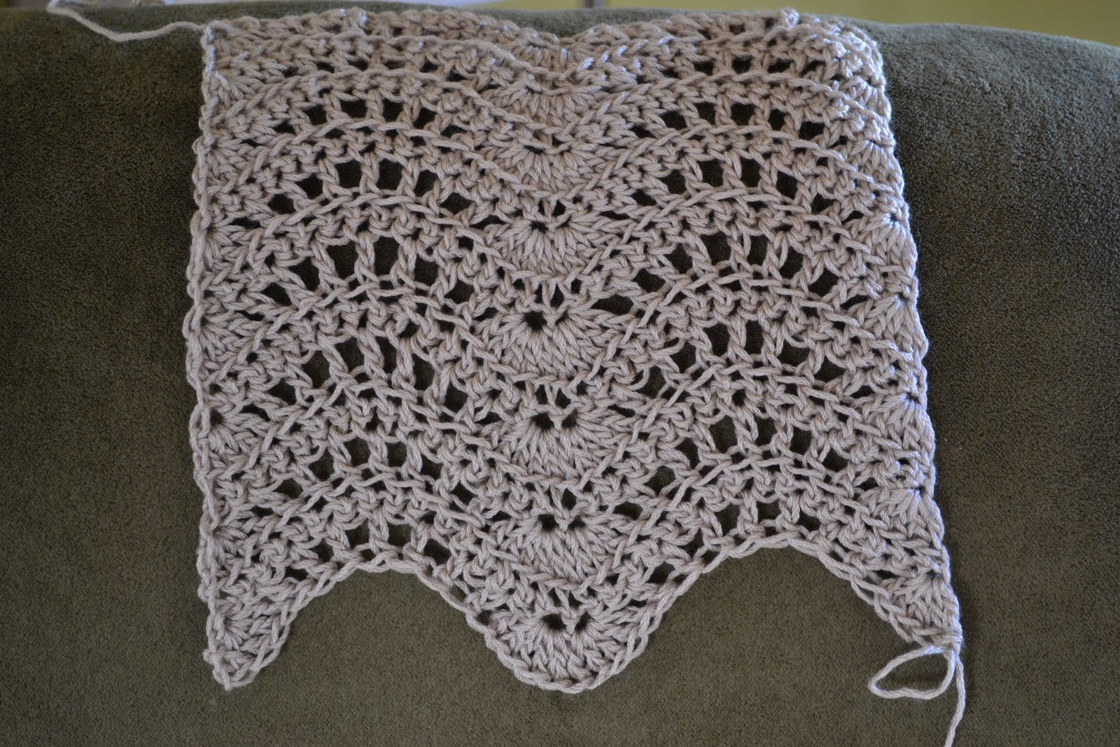 Afghan Patterns Cyns Crochet Knitting Corner Feather And Fan