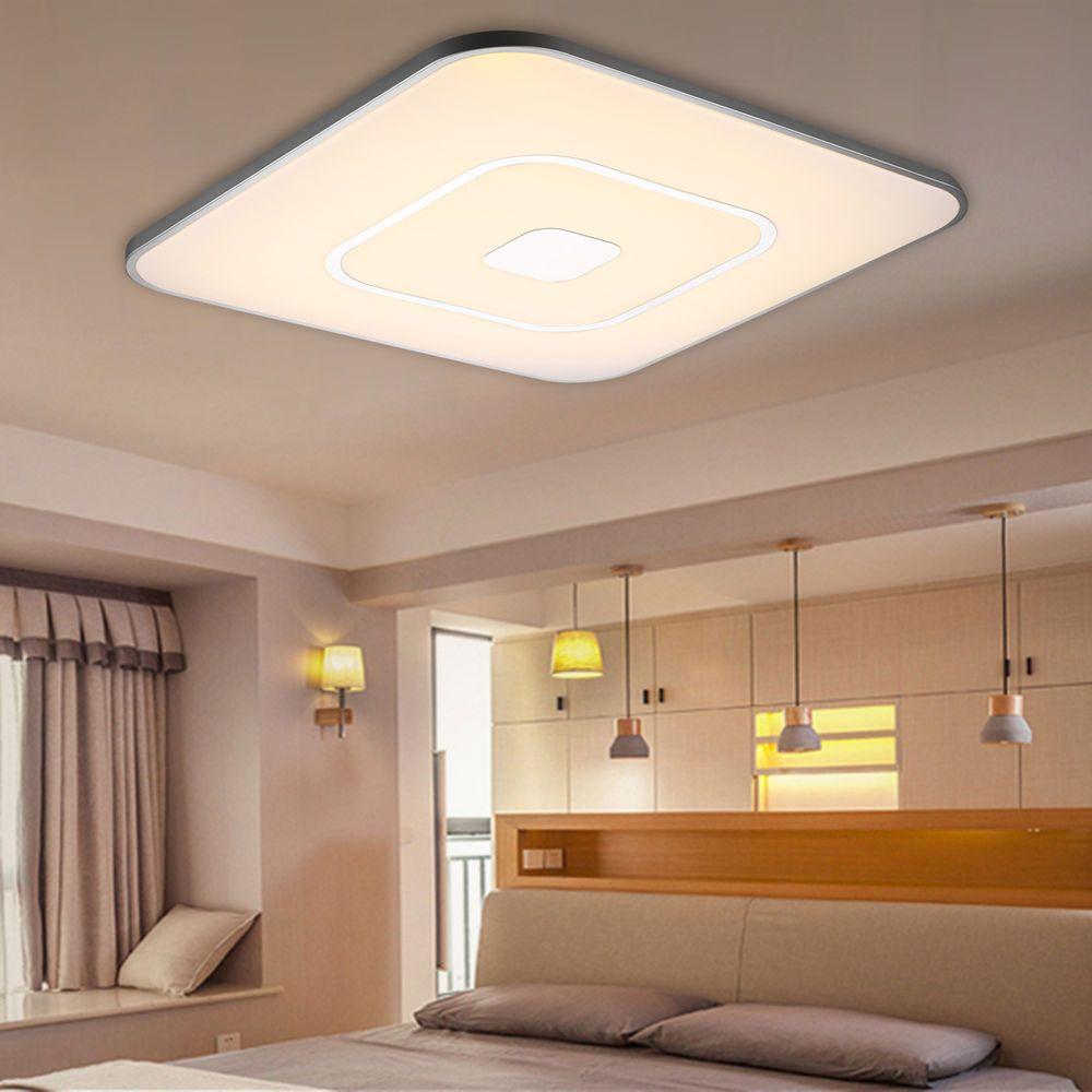 Modern 36w Led Ceiling Light Flush Mount Dimmable 3000 6500k Bright Bedroom Lamp Ceiling Lights Flush Mount Ceiling Lights Bedroom Lamps