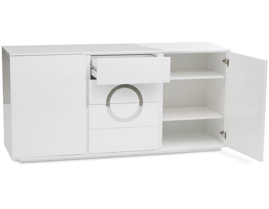 Sophie Buffet 2 Portes Structube Sideboard Lacquered Sideboard White Sideboard