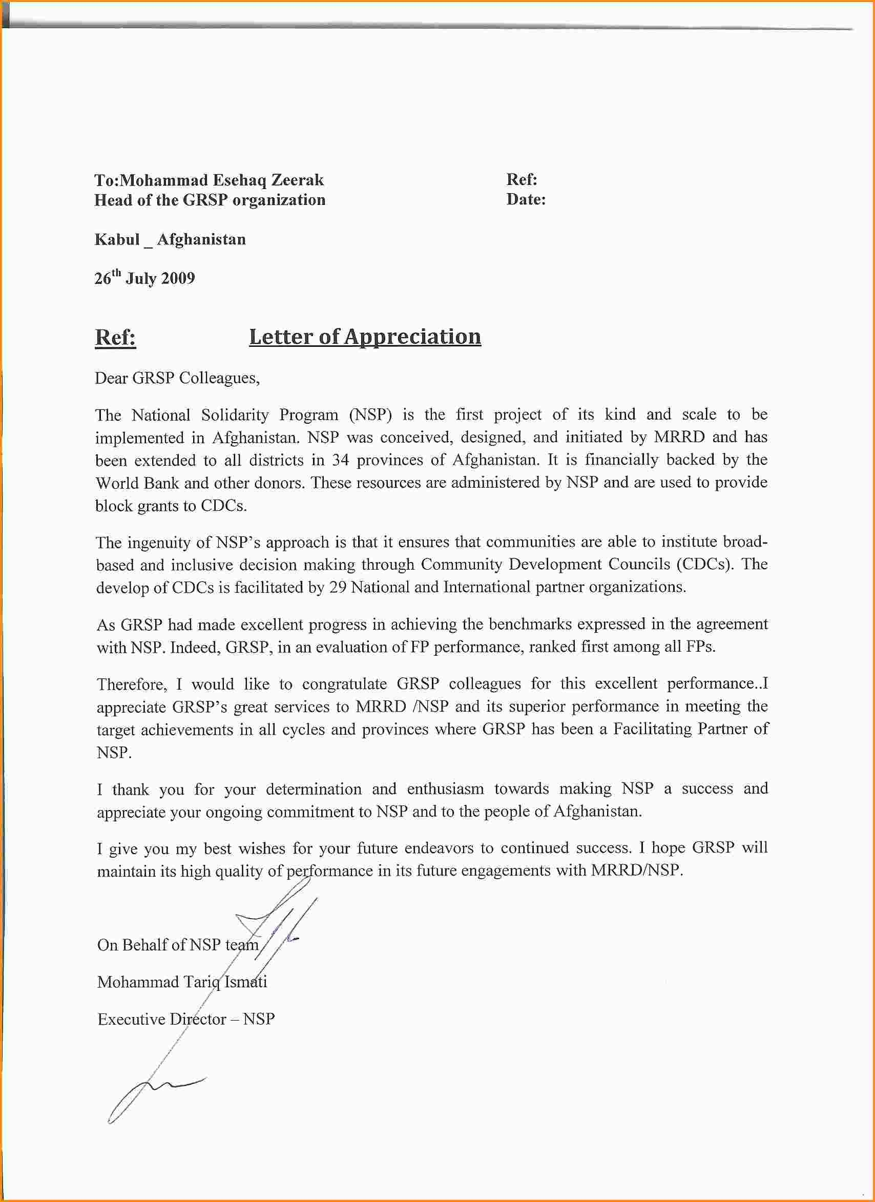 How Write Appreciation Letter Letters Mac Resume Template Format