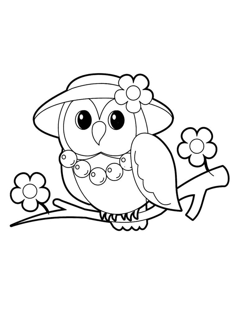 Free Coloring Pages Baby Jungle Animals Owl Coloring Pages