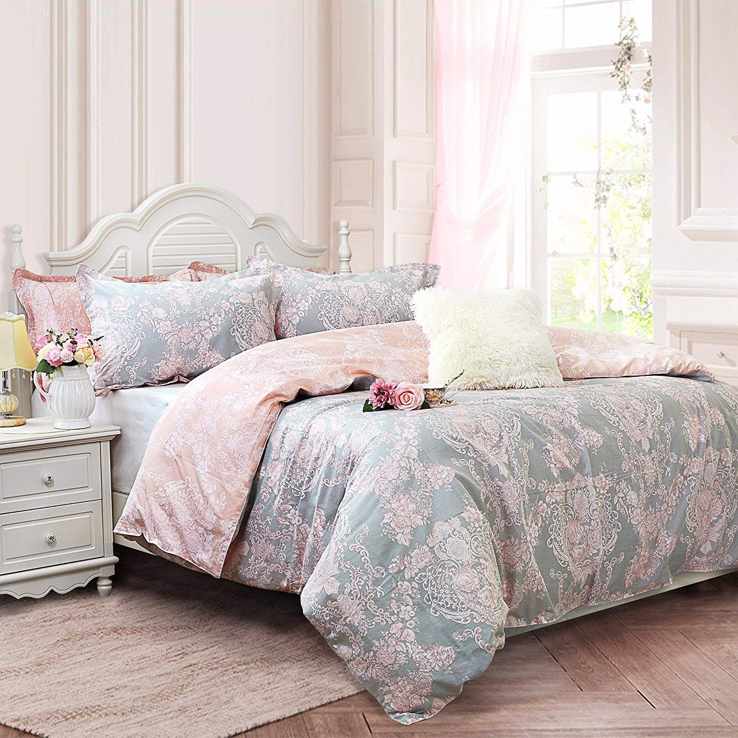 Amazon Com Brandream Blush Pink Bedding Sets Full Size Girls