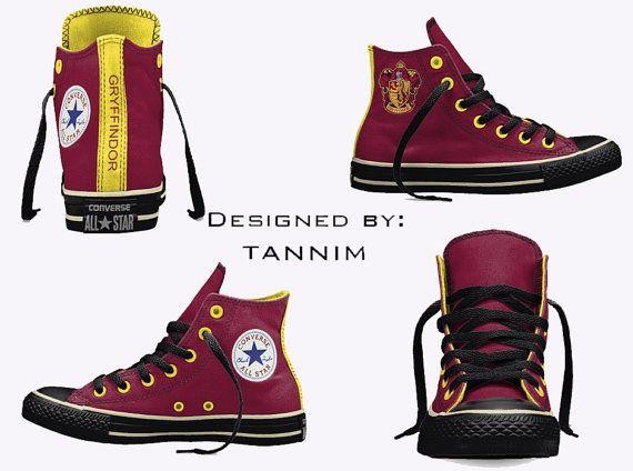 6f2367179336 Custom Harry Potter  House Gryffindor Converse Chucks