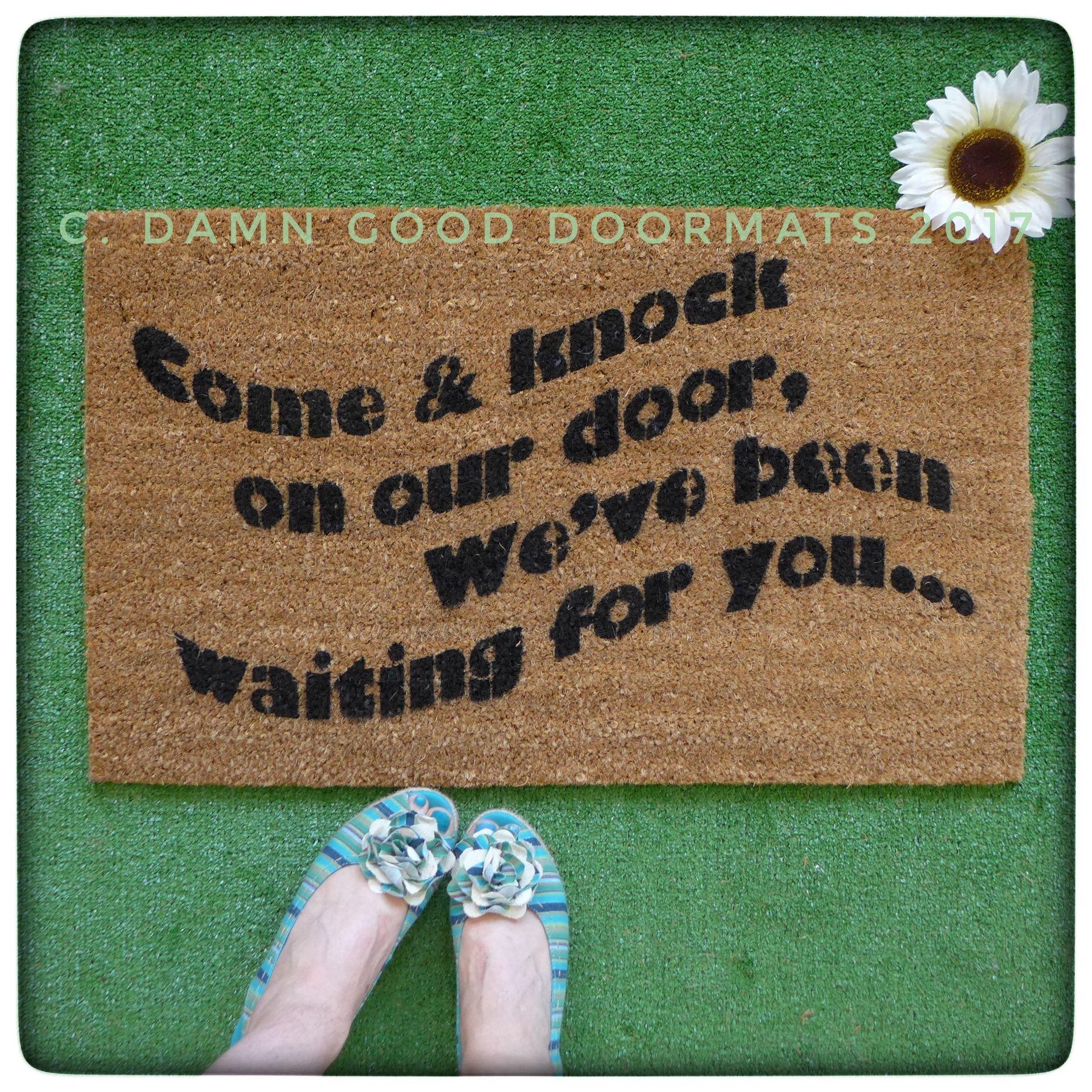Come Knock Of Our Door Funny 3 S Company 80 S Tv Doormat Door Mat Cool Doormats Movie Nerd