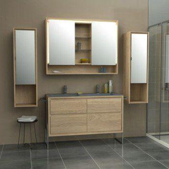 Meuble de salle de bains plus de 120, brun / marron, Storm ...