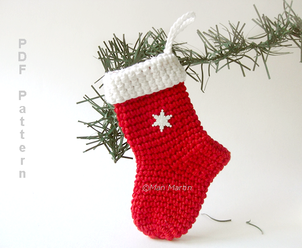Crochet Christmas Stocking Christmas Crochet Pinterest