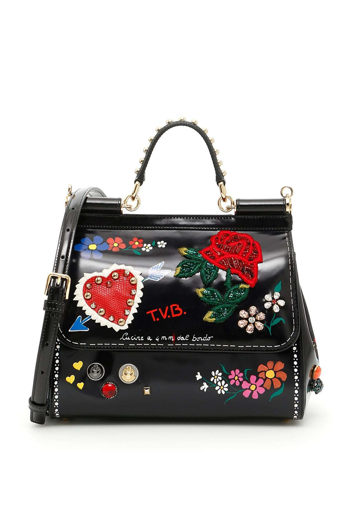 68d829bd5f29 DOLCE & GABBANA . #dolcegabbana #bags #shoulder bags #leather #lining  #crystal #
