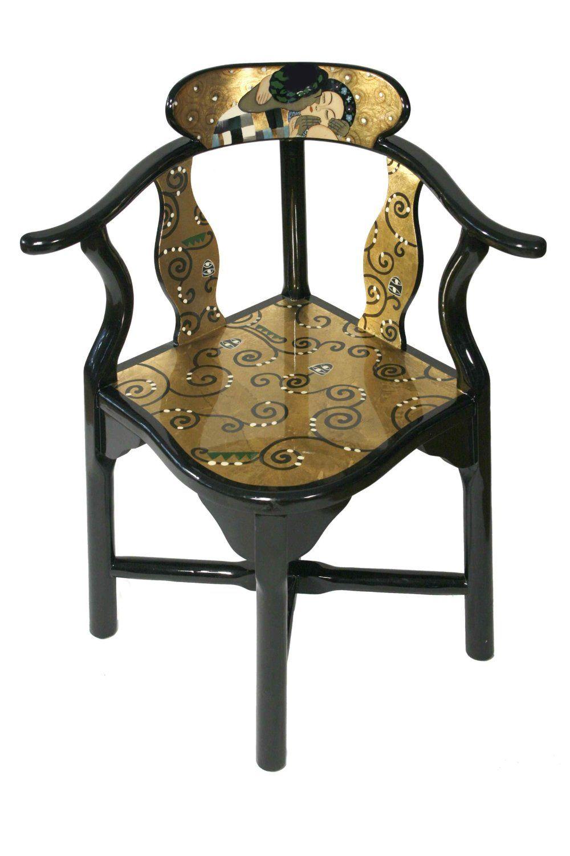 Amazon.de: Casa Collection / Art for living by Jänig 07578 Exclusiver Eckstuhl, Lack, Gustav Klimt