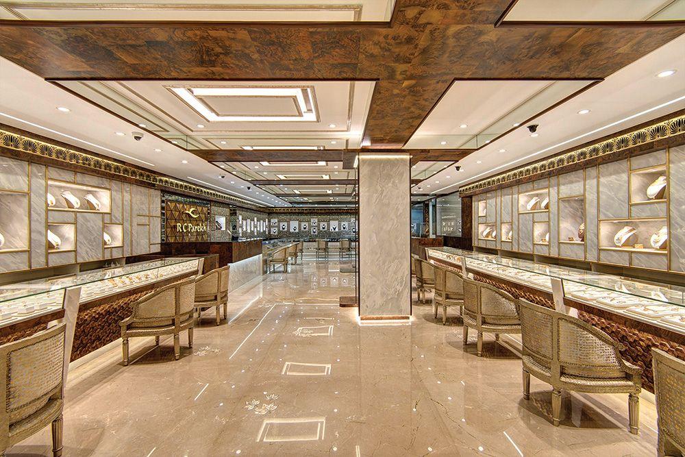 Ramesh Chandra Parekh S New Store In Kolkata Exudes Perfection Retail Store Design Jewelry Store Design Jewellery Showroom