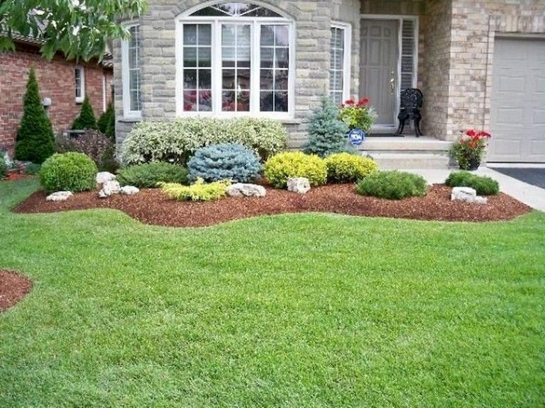 60 Plain And Beautiful Front Yard Pathways Landscaping Ideas Yard Frontyar Shrubs For Landscaping Front Yard Landscaping Design Small Front Yard Landscaping