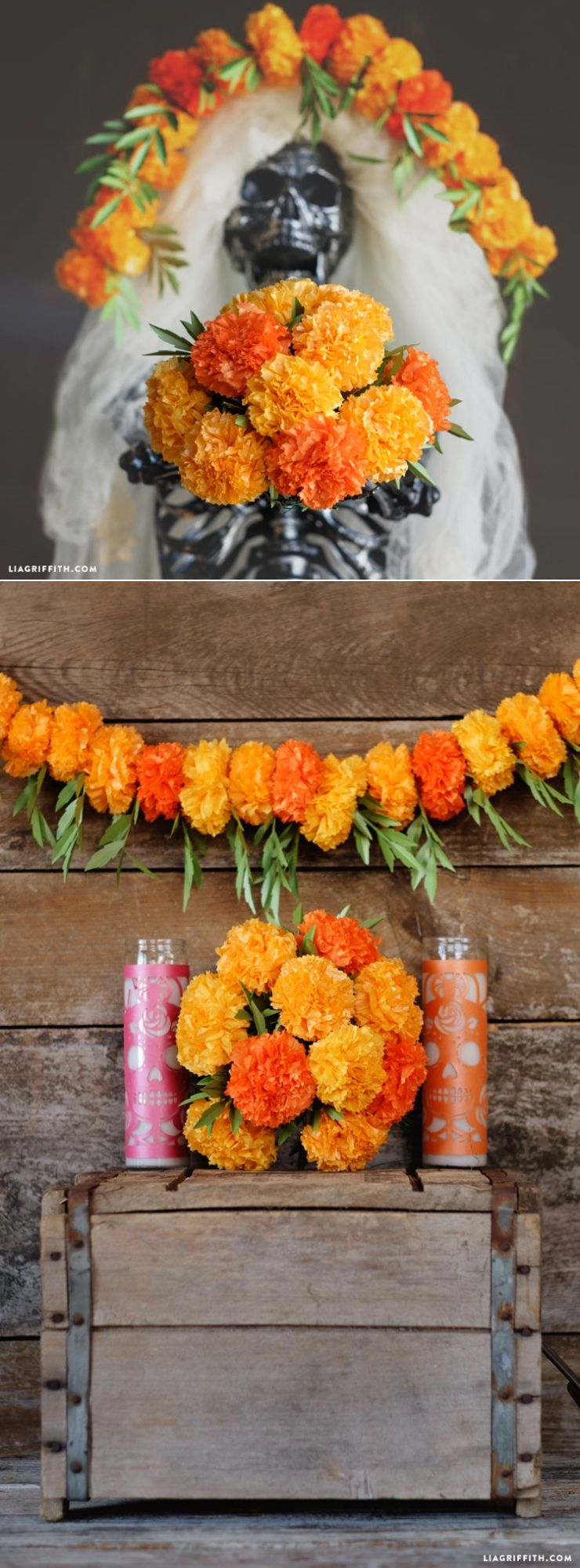 Tissue Paper Marigolds Diy Party Craft And Papercraft