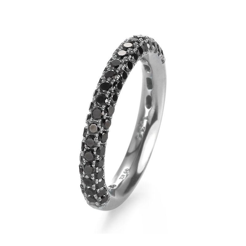 svart diamant ring