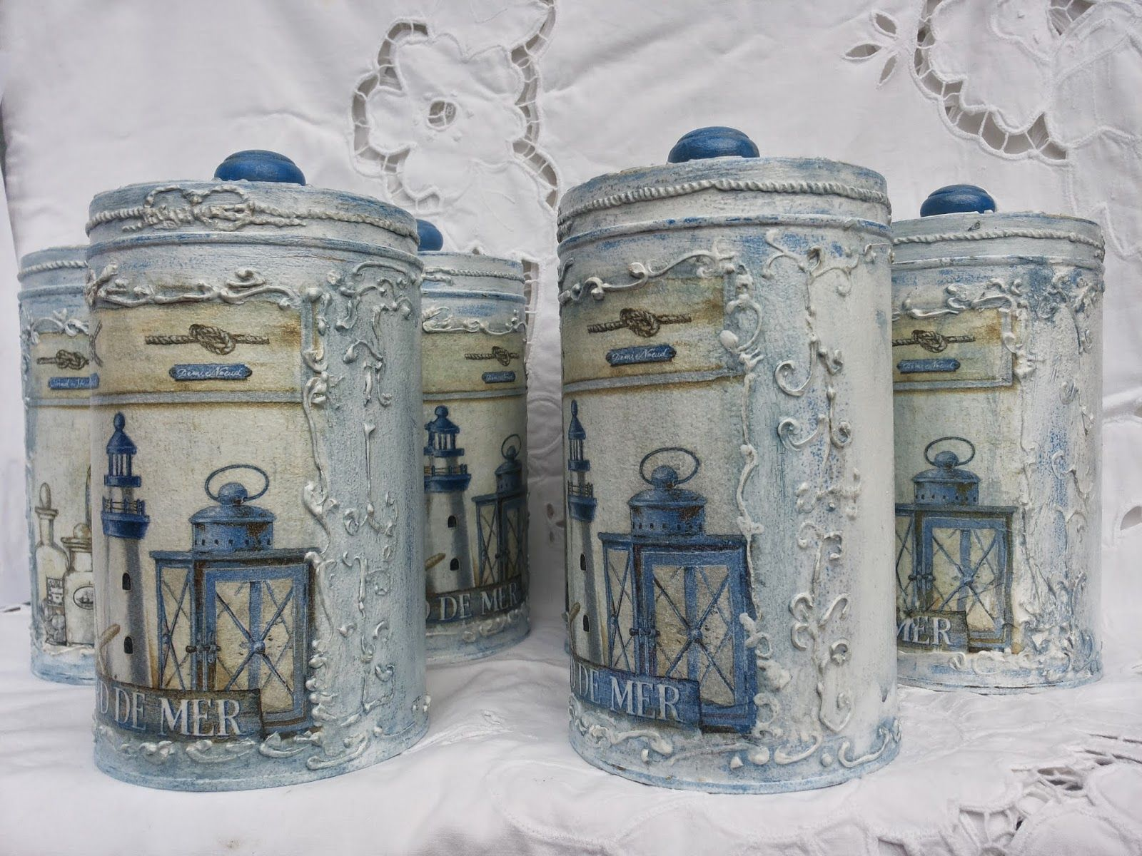 Decorative Kitchen Canisters Sets Narrow Island With Seating Martinel My Handmade And Crafts Works Pinterest