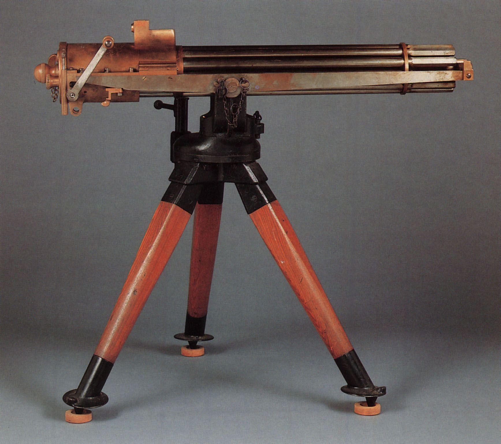 Rough Rider Gatling Gun – This Colt M1895 gatling gun is one