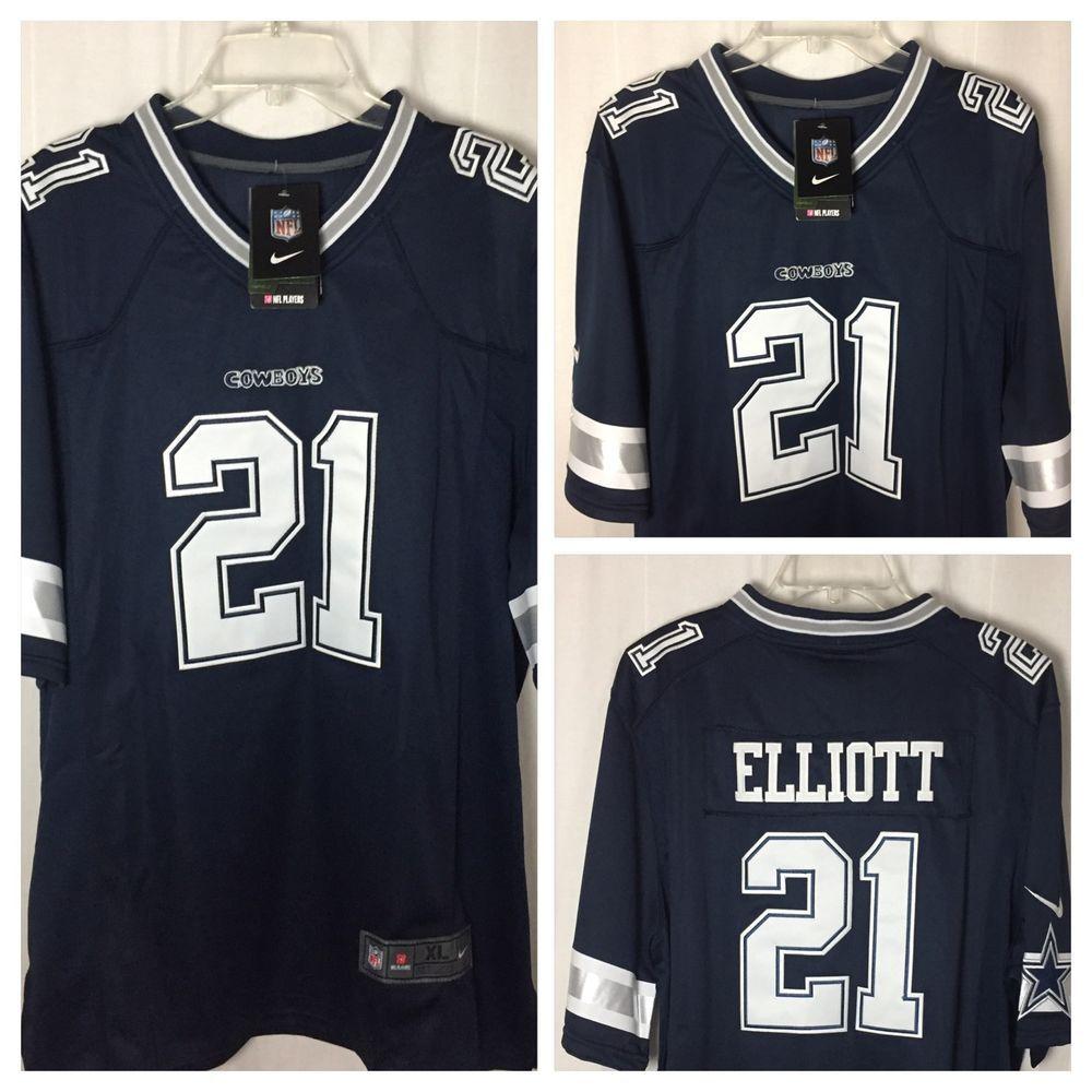 253p Nike NFL Dallas Cowboys 21 Ezekiel Elliott Blue