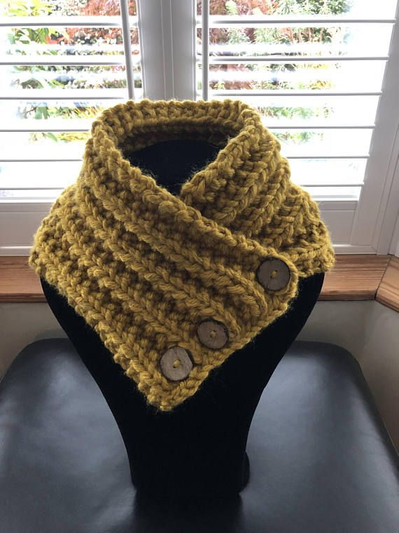 Hand Knitted Neck Warmer Knitted Collar Knitted Scarf Cream Crafts