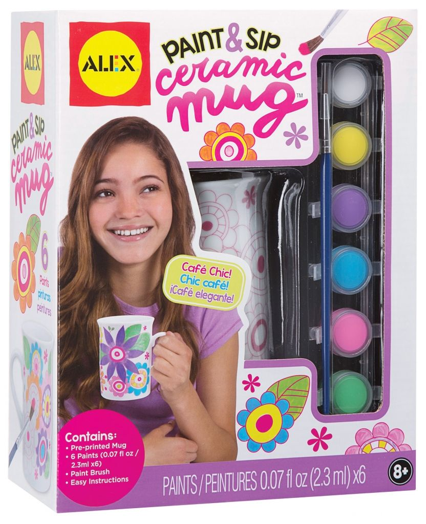 ALEX Toys Craft Paint and Sip Ceramic Mug is part of Painting crafts, Ceramic painting, Alex toys, Toy craft, Arts and crafts for kids, Pottery painting -  2 3ml each),paint …