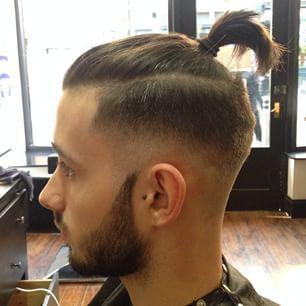 Skin Fade Top Knot Man Bun Hairstyles Long Hair Styles Men Top Knot Hairstyles