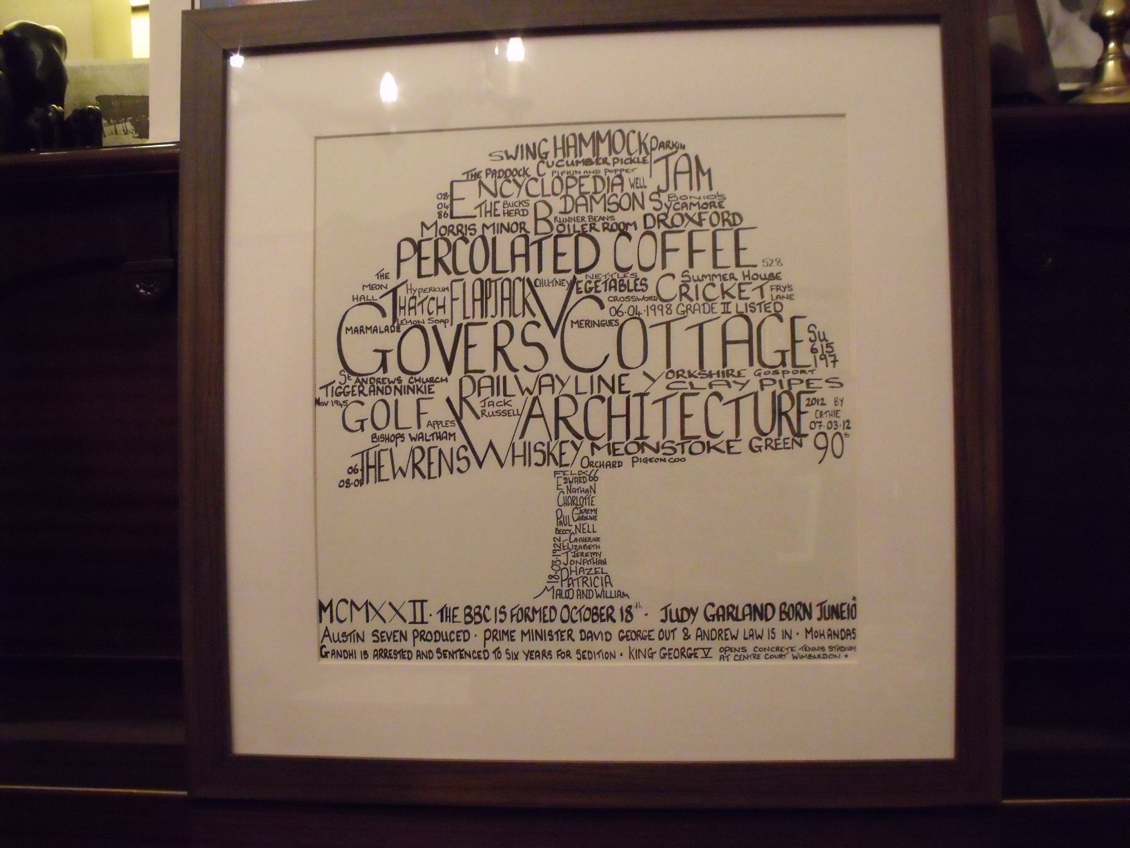 The Tree Of Life By Cathie Boyle At Www Graftanddesign Co Uk Word Art Hammock Swing Summer House