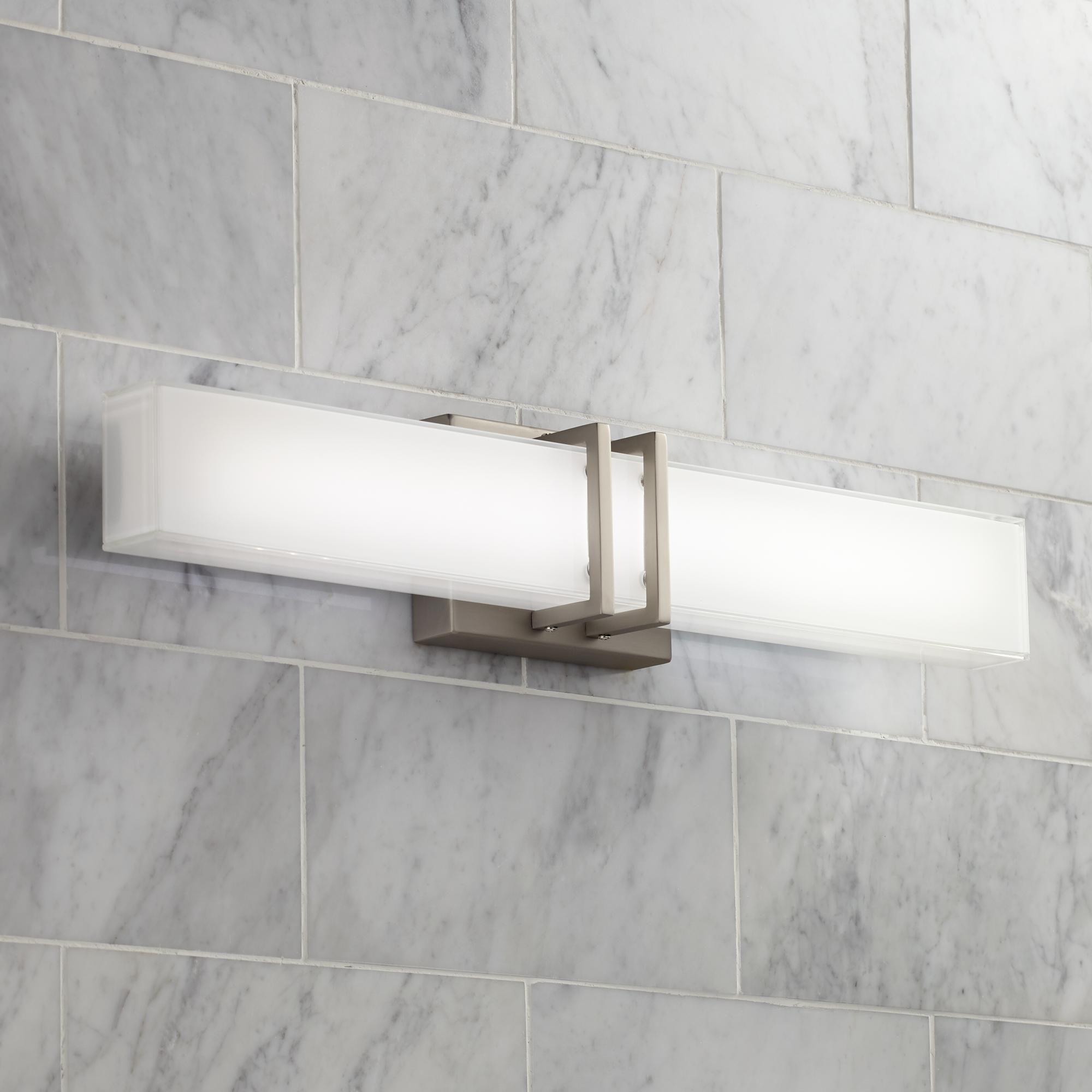 Photo of Possini Euro Exeter 24 Inchw Nickel Led Bathroom Vanity Light