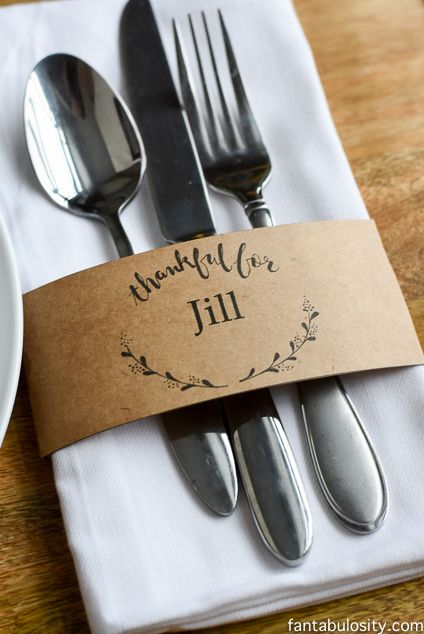 Free Printable Place Cards & Customizable Download for Names! #thanksgivingdecor