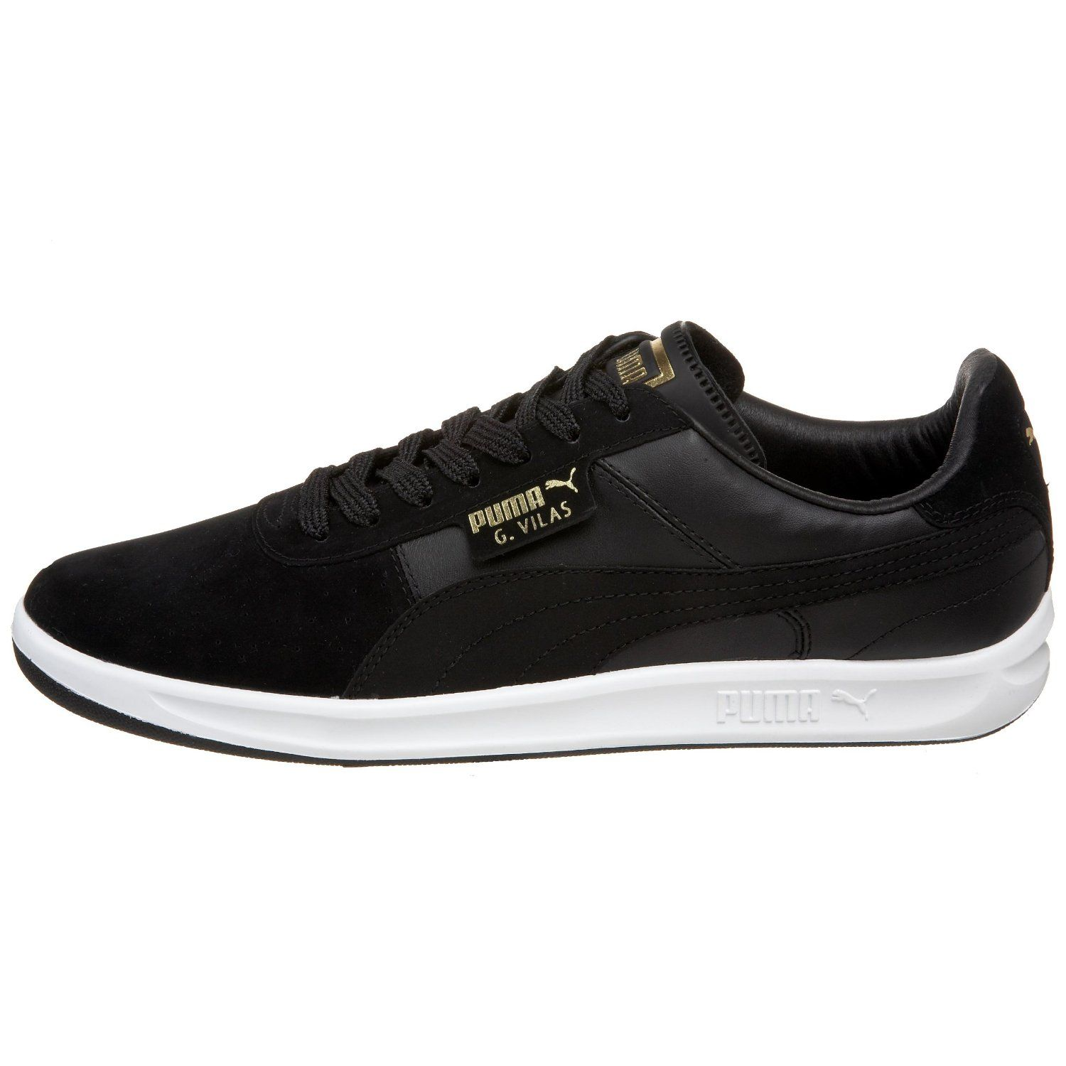 best service 407ce 96cb4 Amazon.com PUMA Mens G. Vilas 2 Sneaker,BlackMetallic Gold,13 M Shoes