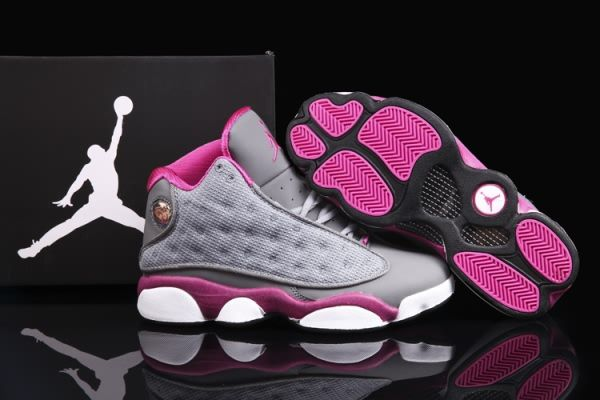 womens air jordan retro 13 grey black
