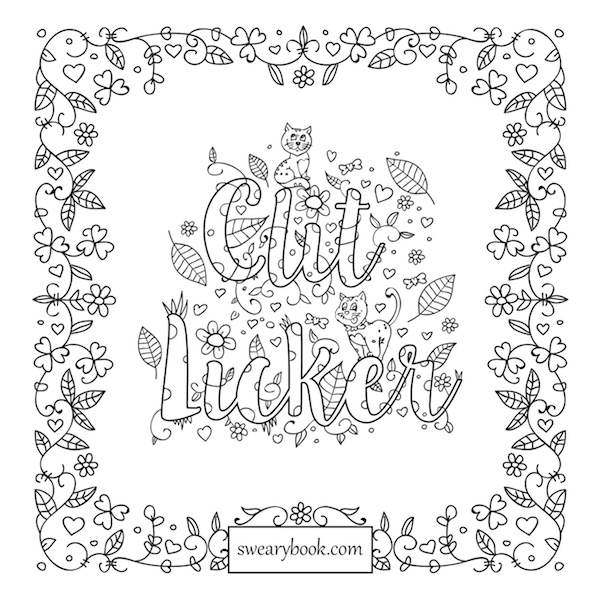 Sweary Coloring Book Pages | Words coloring book, Sweary ...
