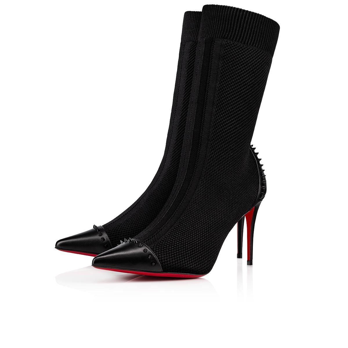 c16c1662dd22 Dovi Dova 85 Black Cotton - Women Shoes - Christian Louboutin in ...