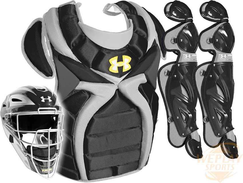under armour youth catchers gear. under armour ® fastpitch catchers gear set - black youth o