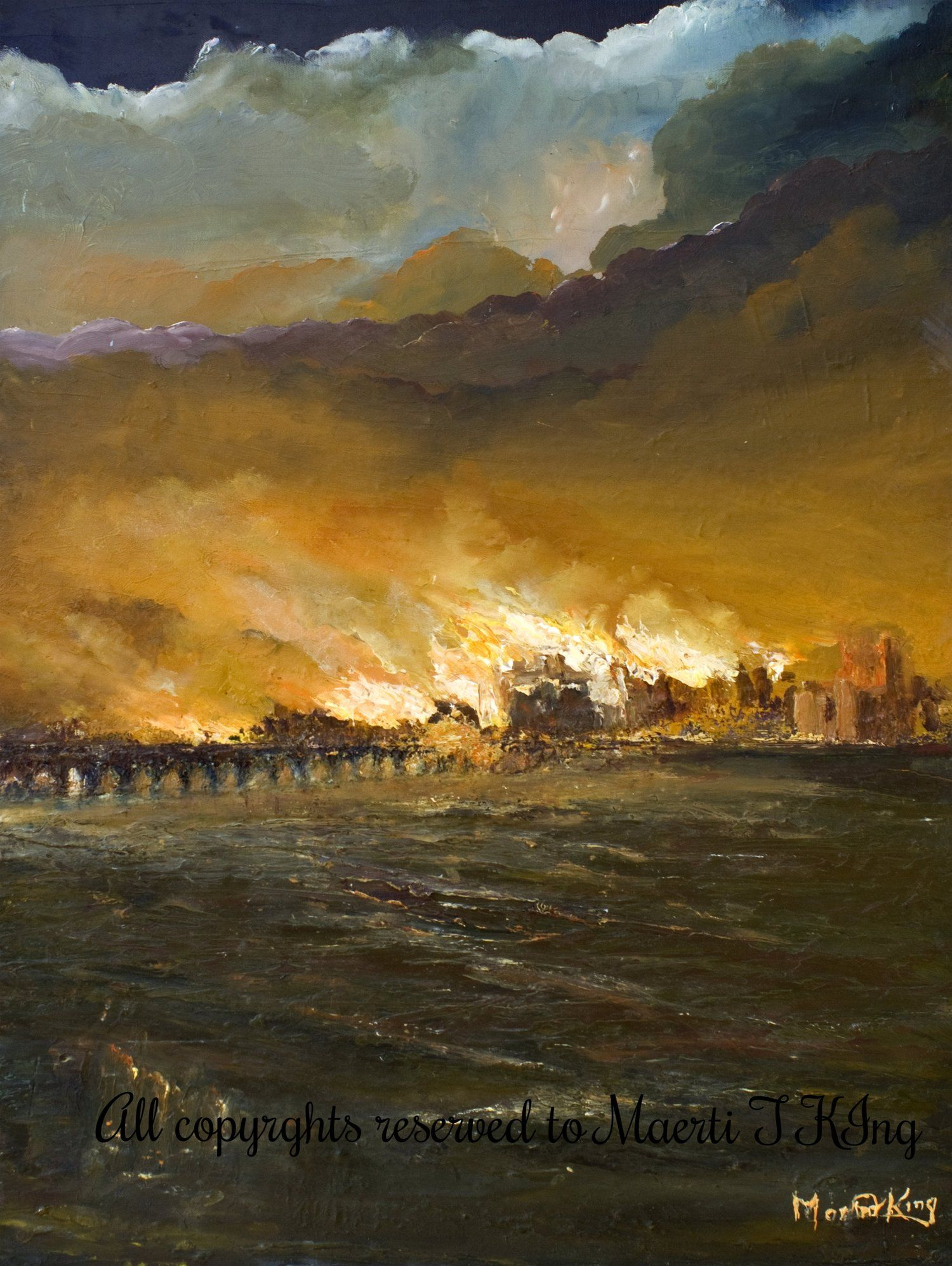 Great Fire Of London, 1666 Photograph by Granger |Impressionist Fire London