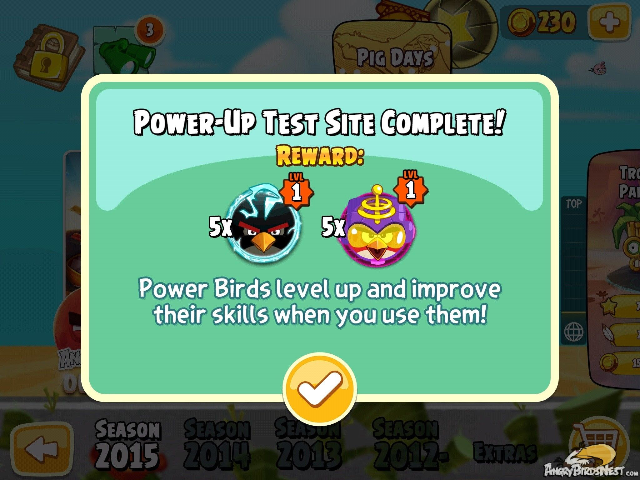 Angry Birds Seasons Invasion Of The Eggsnatchers Power Bird Levels